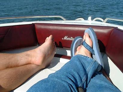 cousin feet on lac seul