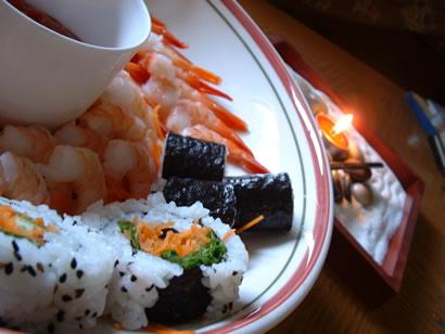 mmm, sushi breakfast