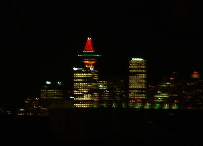 vancouver, christmas, night